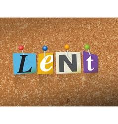 Lent Concept vector image