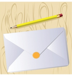 Letter and pencil vector