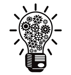 light bulb with gears vector image vector image
