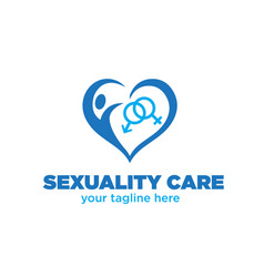 love sexuality women and man logo designs vector image