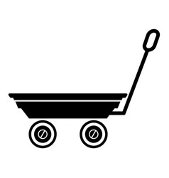 market trolley icon simple black style vector image