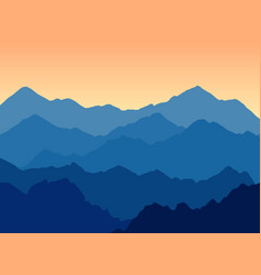 mountains landscape at dusk vector image