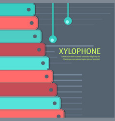 musical instrument xylophone on the background vector image
