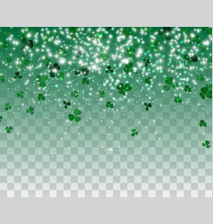 Naturalistic colorful green clover on a vector
