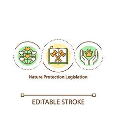 Nature protection legislation concept icon vector