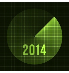 New Year Background Sonar 2014 Card template for vector image