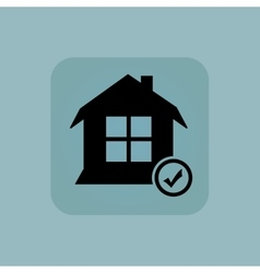 Pale blue select house icon vector