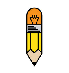 pencil idea mascot best for your vector image
