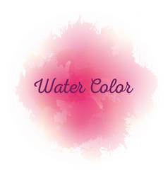 Pink watercolor art paint vector