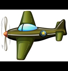 Plane flying isolated vector