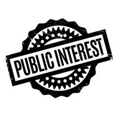 Public interest rubber stamp vector
