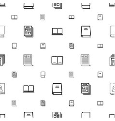 Publish icons pattern seamless white background vector