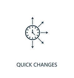 Quick changes outline icon thin line concept vector