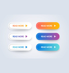 read more colorful button set vector image