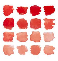 red blots watercolor set vector image