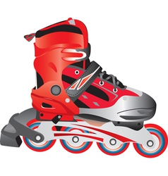 Red hot rollerblade vector