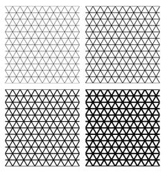 Set of 4 elegant triangular meshes vector image