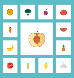 set of dessert icons flat style symbols with vector image