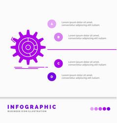 setting data management process progress vector image