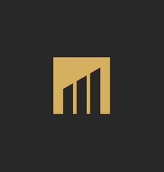 shape square graph business finance logo vector image