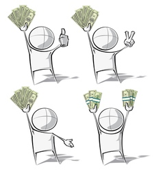 Simple People Money vector image