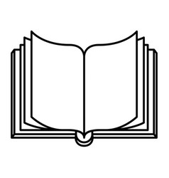 Sketch silhouette image front view open book vector