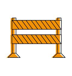 Striped roadblock icon image vector