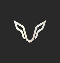 symbol face wolf predator wolf logo design vector image