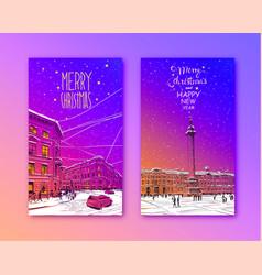 trendy cover template russia saint petersburg vector image