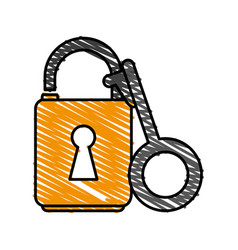 unlocked padlock accessory vector image