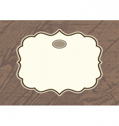 wood background frame vector image vector image