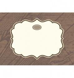 Wood background frame vector