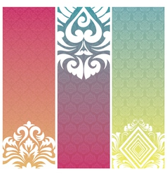 banner pattern vector image vector image
