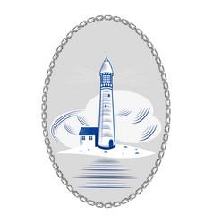 Lighthouse sea ocean light water coast beacon vector