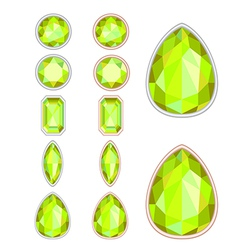 set of five forms of citrine cut and two kinds of vector image