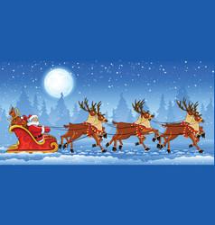 Christmas Santa Claus riding vector image vector image