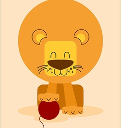 Friendly lion vector image