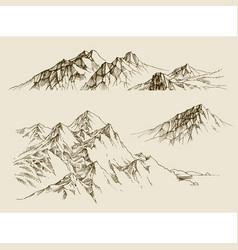Mountains ranges set a collection of nature vector