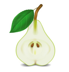 pear on white background vector image