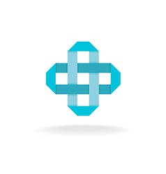 Pharmaceutical cross logo vector