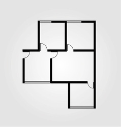 Plan of a small house vector image