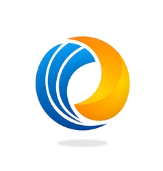 circle swirl round business 2D logo vector image vector image