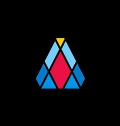 color prism shape geometry logo vector image vector image
