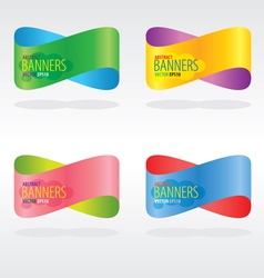 Colorful Abstract Banners EPS10 vector image vector image