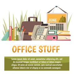 office flat orthogonal background vector image