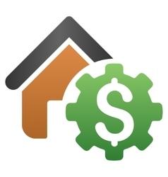 Building Development Payment Gradient Icon vector image