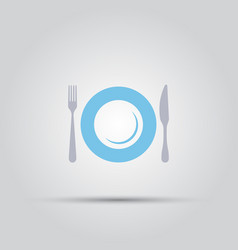 cutlery isolated colored icon vector image
