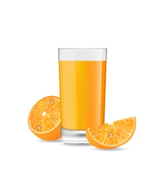Orange Cocktail with Slice vector image vector image