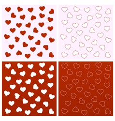 Valentine seamless backgrounds vector image vector image