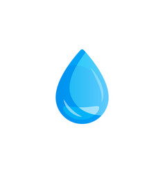 water drop on light background vector image